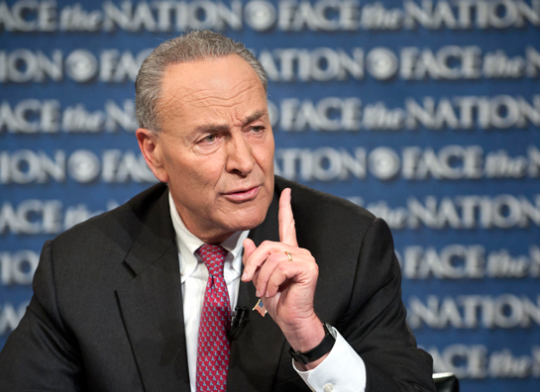 """Sen. Chuck Schumer (D., N.Y.) speaks on """"Face the Nation,"""" Sunday, Oct. 13, 2013."""
