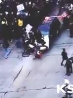 Jeffrey Patrick Rice runs over protesters