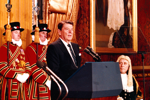 """ronald reagan and reagan doctrine treaty Unlike his predecessors, containment of communism wasn't enough for reagan – he wanted to destroy it wherever possible the 'reagan doctrine' provided support, financially and militarily, for anti-communist fighters throughout africa, asia and particularly in latin america, in an attempt to """"roll back."""