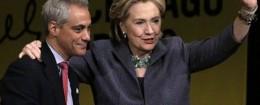 Rahm Emanuel and Hillary Clinton / AP