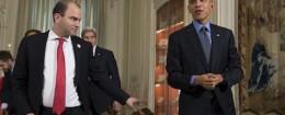Ben Rhodes with President Obama