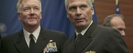 Vice Adm. James Syring (right), director of the Missile Defense Agency / AP