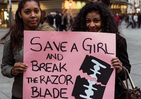 Spain: Protest against Female Genital Mutilation