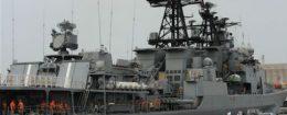 Russian sailors are seen aboard the Admiral Panteleyev Russian war ship, May 17, 2013 / AP