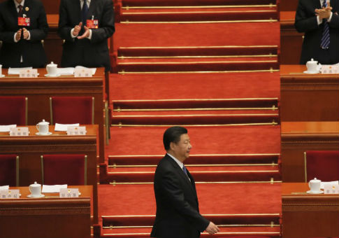 China's President Xi Jinping arrives for the second plenary session of the National People's Congress in Beijing, March 9, 2016 / REUTERS