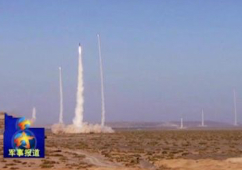 DF-21 salvo launch