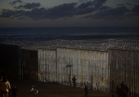 The U.S.-Mexico border fence at Las Playas in Tijuana, Mexico