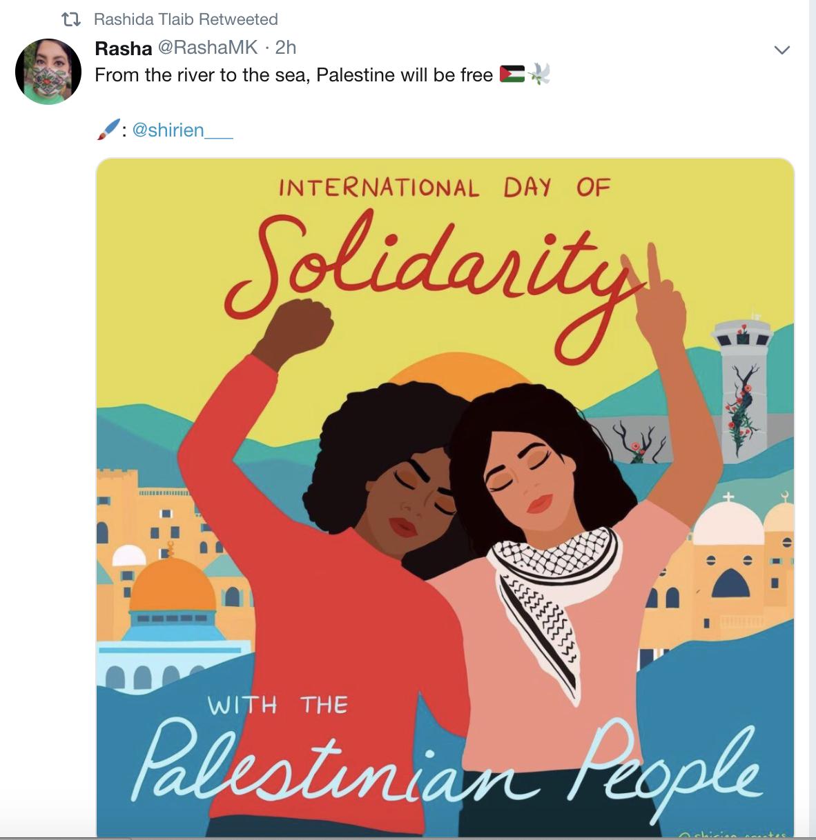 US-Politikerin Rashida Tlaib postet israelfeindlichen Spruch