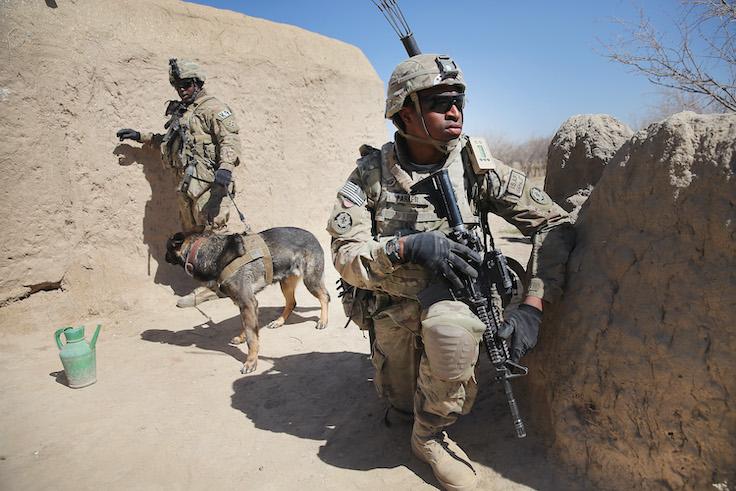 U.S. Soldiers Provide Security Around Kandahar Airfield